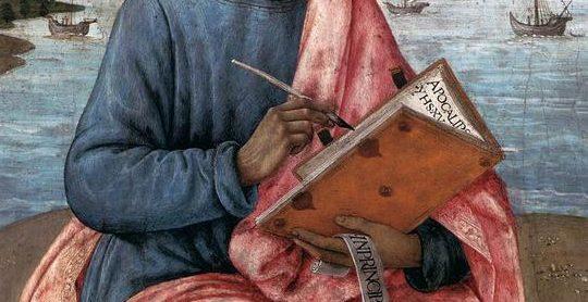 Saint Jean écrivant - extrait