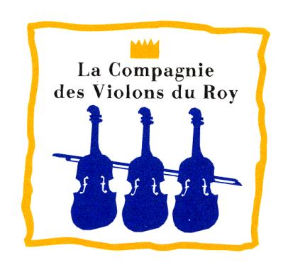 Logo les violons  du Roy